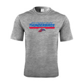 Performance Grey Heather Contender Tee-Mesa Community College Thunderbirds