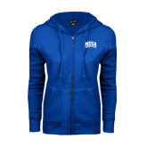 ENZA Ladies Royal Fleece Full Zip Hoodie-Mesa Community College Arched
