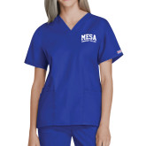 Ladies Royal Two Pocket V Neck Scrub Top-Mesa Community College Arched