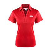 Ladies Red Performance Fine Jacquard Polo-Mesa Community College Arched