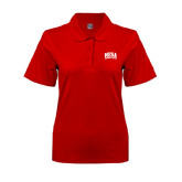 Ladies Easycare Red Pique Polo-Mesa Community College Arched