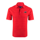 Red Horizontal Textured Polo-Official Logo