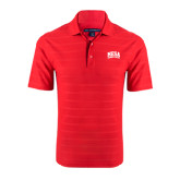 Red Horizontal Textured Polo-Mesa Community College Arched