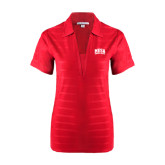 Ladies Red Horizontal Textured Polo-Mesa Community College Arched