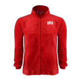 Fleece Full Zip Red Jacket-Mesa Community College Arched