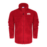 Columbia Full Zip Red Fleece Jacket-Mesa Community College Arched