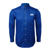 Royal Twill Button Down Long Sleeve-Mesa Community College Arched