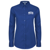Ladies Royal Twill Button Down Long Sleeve-Mesa Community College Arched