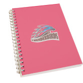 Clear 7 x 10 Spiral Journal Notebook-Official Logo