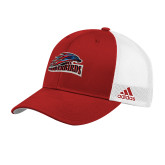 Adidas Red Structured Adjustable Hat-Official Logo