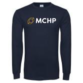 Navy Long Sleeve T Shirt-Secondary Mark