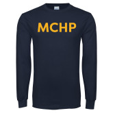 Navy Long Sleeve T Shirt-MCHP