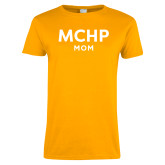 Ladies Gold T Shirt-Mom