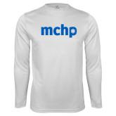 Performance White Longsleeve Shirt-MCHP