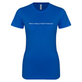 Next Level Ladies SoftStyle Junior Fitted Royal Tee-Maine College of Health Professions