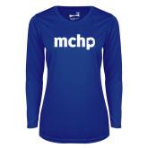 Ladies Syntrel Performance Royal Longsleeve Shirt-MCHP