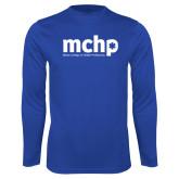 Performance Royal Longsleeve Shirt-Primary Mark