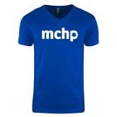 Next Level V Neck Royal T Shirt-MCHP