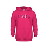 Youth Raspberry Fleece Hoodie-MCHP Foil