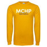 Gold Long Sleeve T Shirt-Overlapping