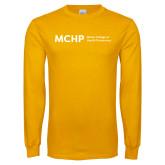 Gold Long Sleeve T Shirt-Horizontal