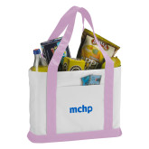 Contender White/Pink Canvas Tote-MCHP