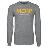 Grey Long Sleeve T Shirt-Overlapping