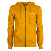 ENZA Ladies Gold Fleece Full Zip Hoodie-Secondary Mark