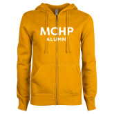 ENZA Ladies Gold Fleece Full Zip Hoodie-Alumni