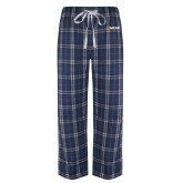 Navy/White Flannel Pajama Pant-Secondary Mark