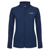 Ladies Fleece Full Zip Navy Jacket-Secondary Mark
