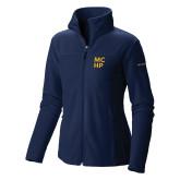Columbia Ladies Full Zip Navy Fleece Jacket-Stacked