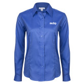 Ladies Red House French Blue Long Sleeve Shirt-MCHP
