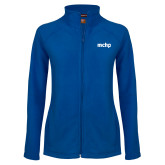Ladies Fleece Full Zip Royal Jacket-MCHP