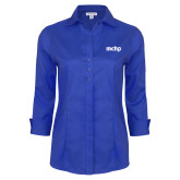 Ladies Red House French Blue 3/4 Sleeve Shirt-MCHP