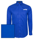 Red House French Blue Dobby Long Sleeve Shirt-MCHP