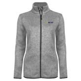 Grey Heather Ladies Fleece Jacket-Secondary Mark