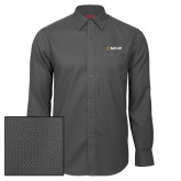Red House Dark Charcoal Diamond Dobby Long Sleeve Shirt-Secondary Mark