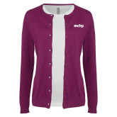 Ladies Deep Berry Cardigan-MCHP