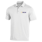 Under Armour White Performance Polo-Secondary Mark