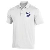 Under Armour White Performance Polo-Stacked