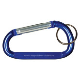 Blue Carabiner with Split Ring-Maine College of Health Professions  Engraved