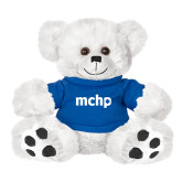 Plush Big Paw 8 1/2 inch White Bear w/Royal Shirt-MCHP
