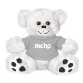 Plush Big Paw 8 1/2 inch White Bear w/Grey Shirt-MCHP