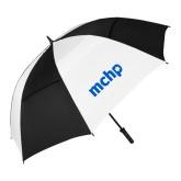 62 Inch Black/White Vented Umbrella-MCHP