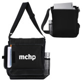 Impact Vertical Black Computer Messenger Bag-MCHP