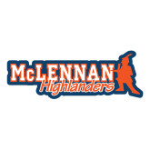 Large Decal-McLennan Highlanders, 12 inches wide