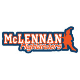 Extra Large Decal-McLennan Highlanders, 18 inches wide