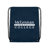 Navy Drawstring Backpack-McLennan Community College