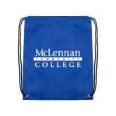 Royal Drawstring Backpack-McLennan Community College
